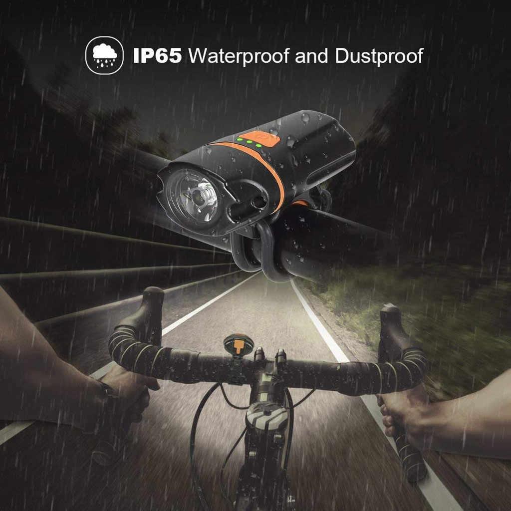 Головной свет светодиодный перезаряжаемый велосипедный велосипед USB лампа вращающееся крепление с хвостовым светом Чрезвычайно Яркий множественный свет режимы USB # JX