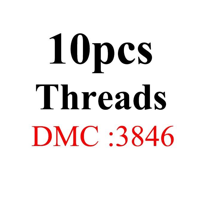 Snowlover, рукоделие, 10 шт./лот, 1,2 м, разные цвета, DMC3824-3848, вышивка крестиком, хлопковое шитье, моток пряжи, нить для вышивки - Цвет: 1.2mthread-DMC3846