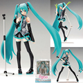 PVC Figma 014 Heroines Miku Hatsune Action Figure Anime Miku Doll Model Toy Collectibles Joints Movable Interchangeable