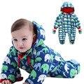 Newborn Baby Winter Rompers Boys Clothing Wind Fabrics + Velvet Infant Costume Warm Jumpsuit Children's Winter Rompers
