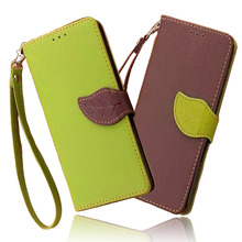 Women's Colorful Leather Phone Cover with Leaf Shaped Clasp for Xiaomi
