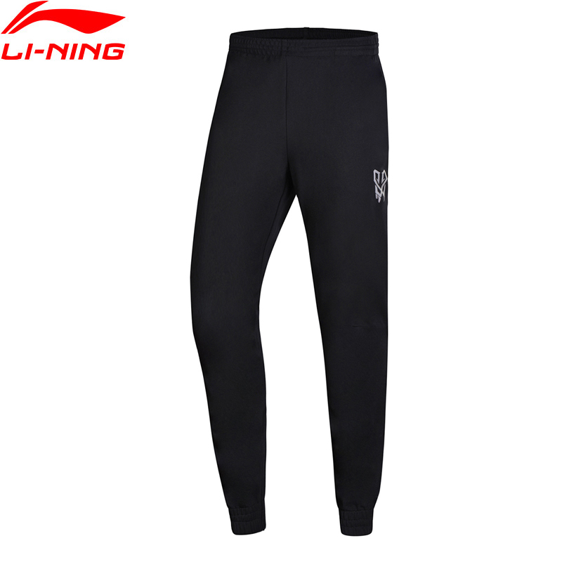 Li-Ning Men Basketball Series Sweat Pants 100% Cotton Comfort LiNing Li Ning Sports Pants Trousers AKLN133 MKY381