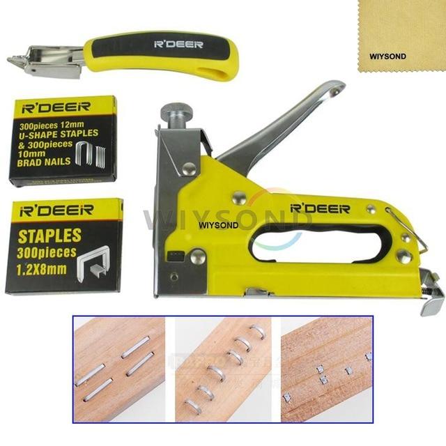 TL030 Heavy Duty Hand 3 In 1 Staple Gun Stapler Upholstery WOOD WITH FREE  STAPLES Online