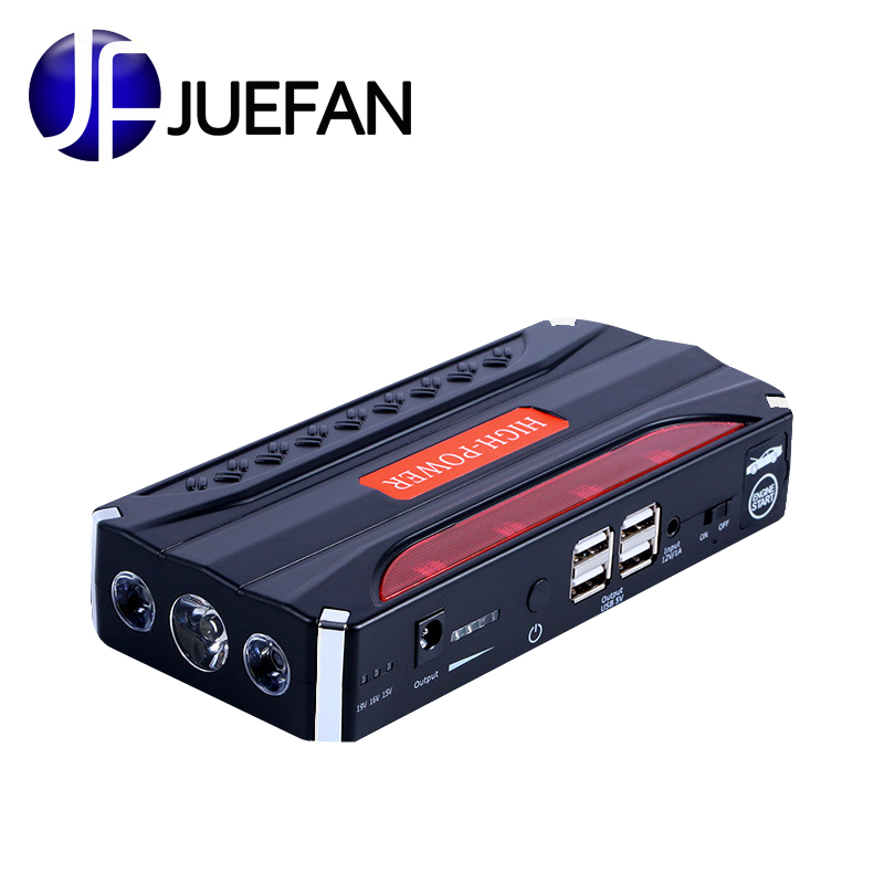 цена JUEFAN Mini Portable 12V Car Battery Jump Starter Auto Jumper Engine Power Multi-function Car Start Emergency Power Supply