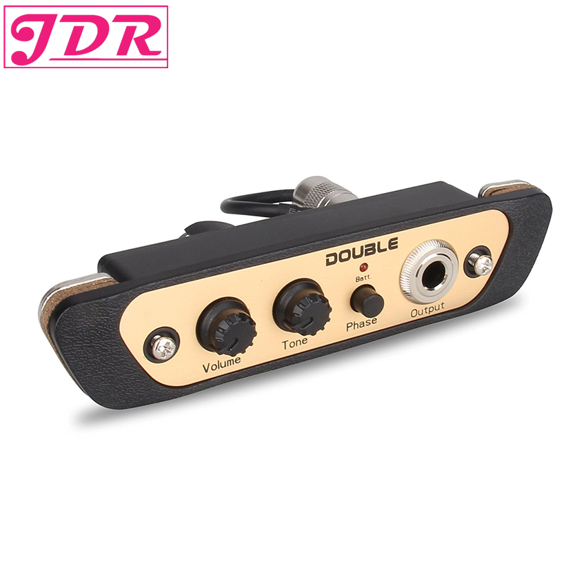 JDR Cajon Pickup Accessories For Cajon Drum Sound Acoustic Box Transducer Amplifier Transducer With Tone Volume Controller