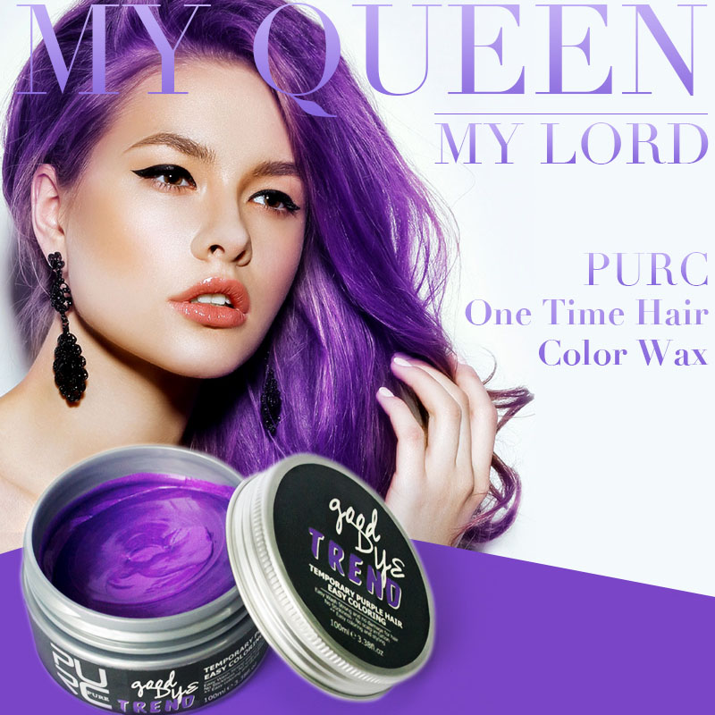 Purc 2018 Hot Selling Good Dye Trend 7 Colors Hair Color 100ml