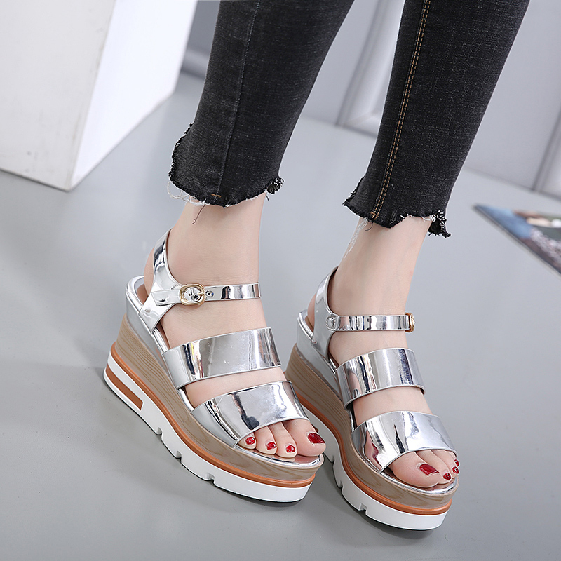 Shoes woman Roman style wedges platform sandals vogue gladiator sandals women sexy black heels sandalias plataforma 2017 phyanic 2017 gladiator sandals gold silver shoes woman summer platform wedges glitters creepers casual women shoes phy3323