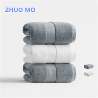 ZHUO MO 100% cotton 80*160cm hollow yarn antibacterial bath towel high quality large thickening 750g adult beach Sport towel