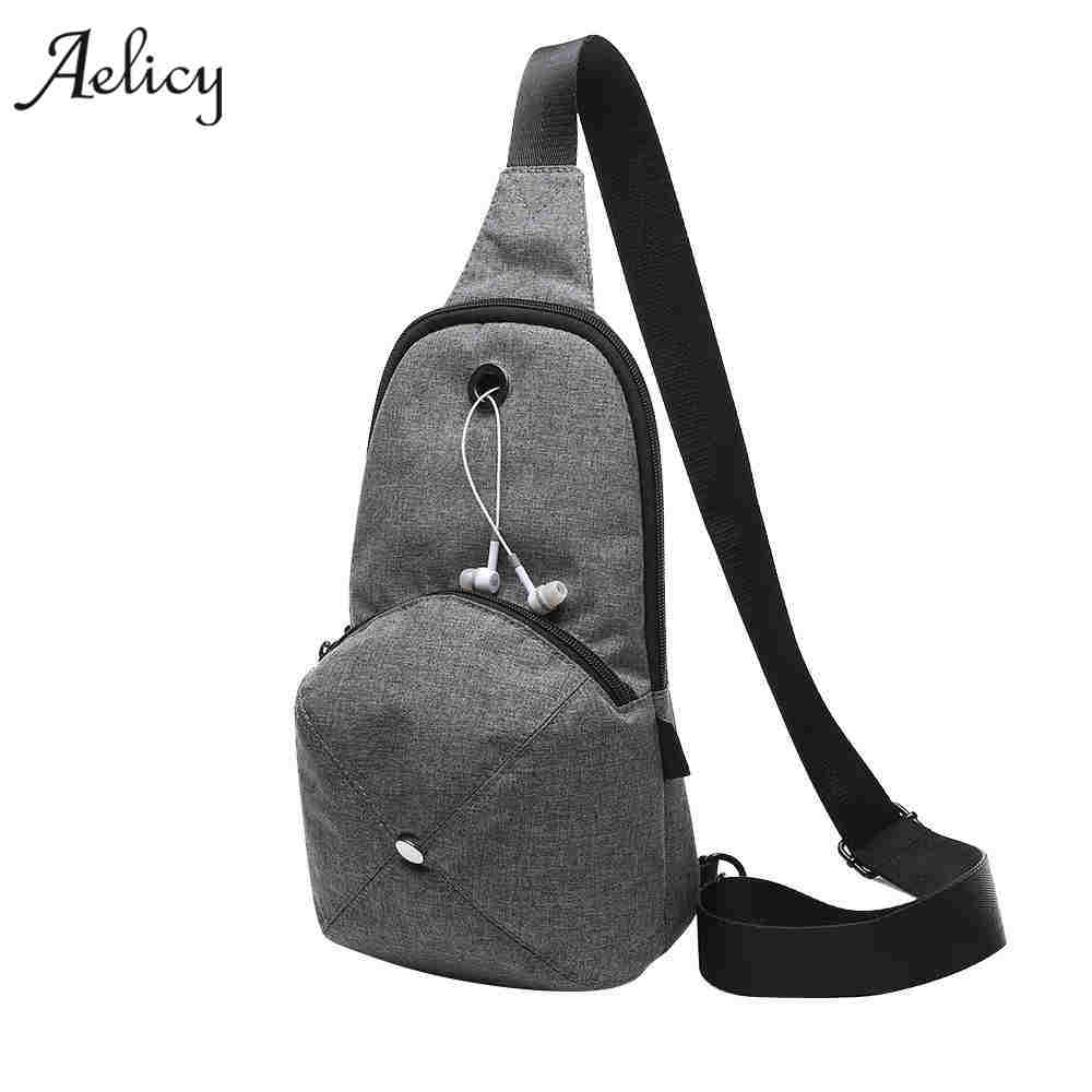 Aelicy Men Function Cool Leisure Chest Bag Men Pack High Quality Brand Men Messenger Bag Designer Travel Messenger Bags