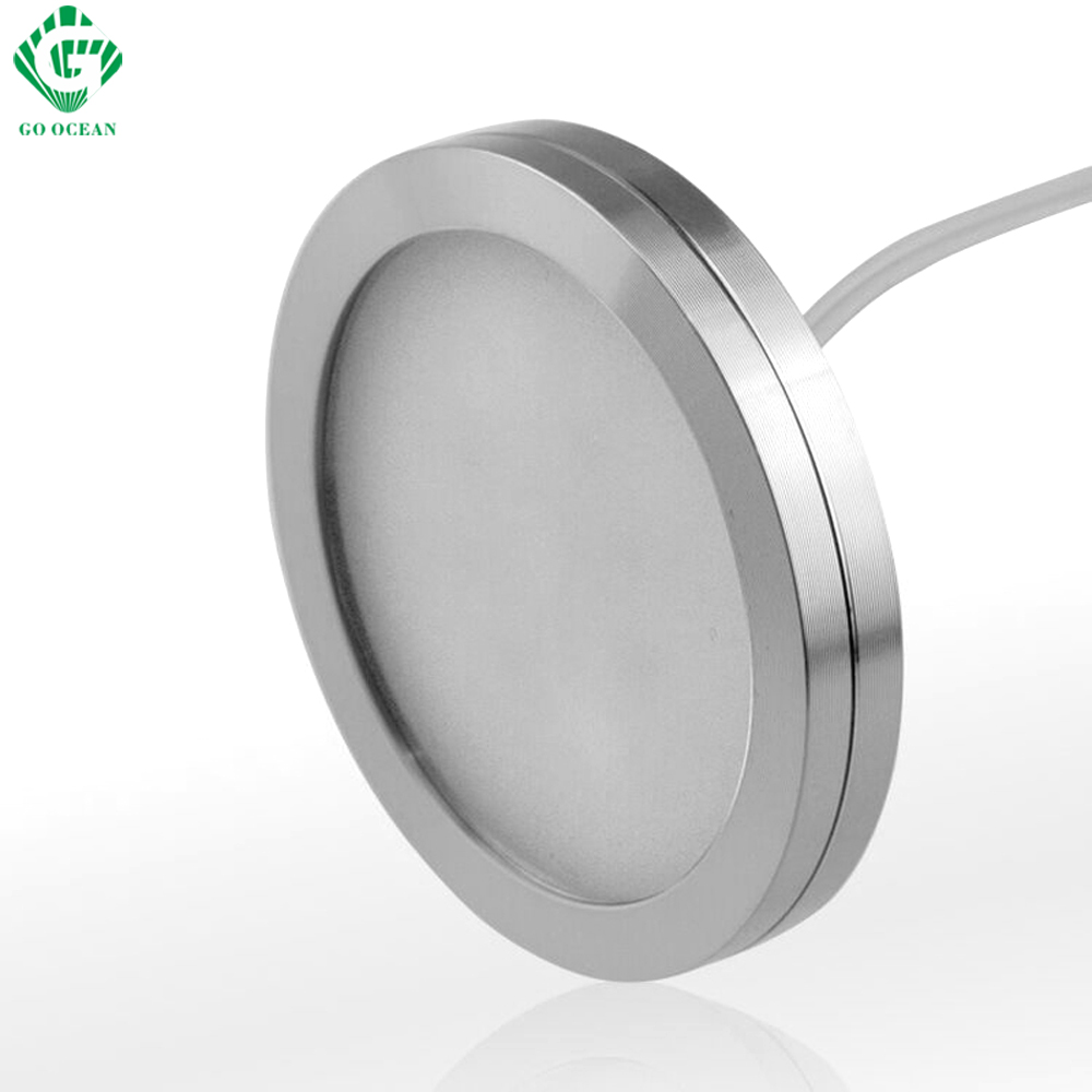GO OCEAN LED Under Cabinet Lights LED Cuisine 12V Round