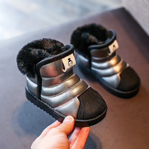 kids girls snow Boys winter shoes warm plush soft bottom children fashion baby boys toddler shoes Lahore