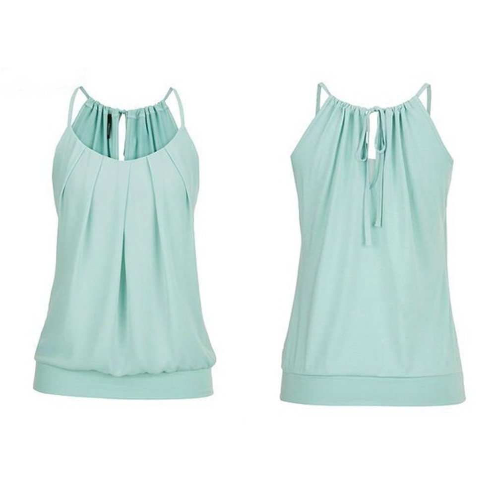 Women's Clothing Women Summer Paste Drill Solid Blouse Shirt Sleeveless Standing Collar Casual Blouse Top Tank Vest Shirt For Office Ladies
