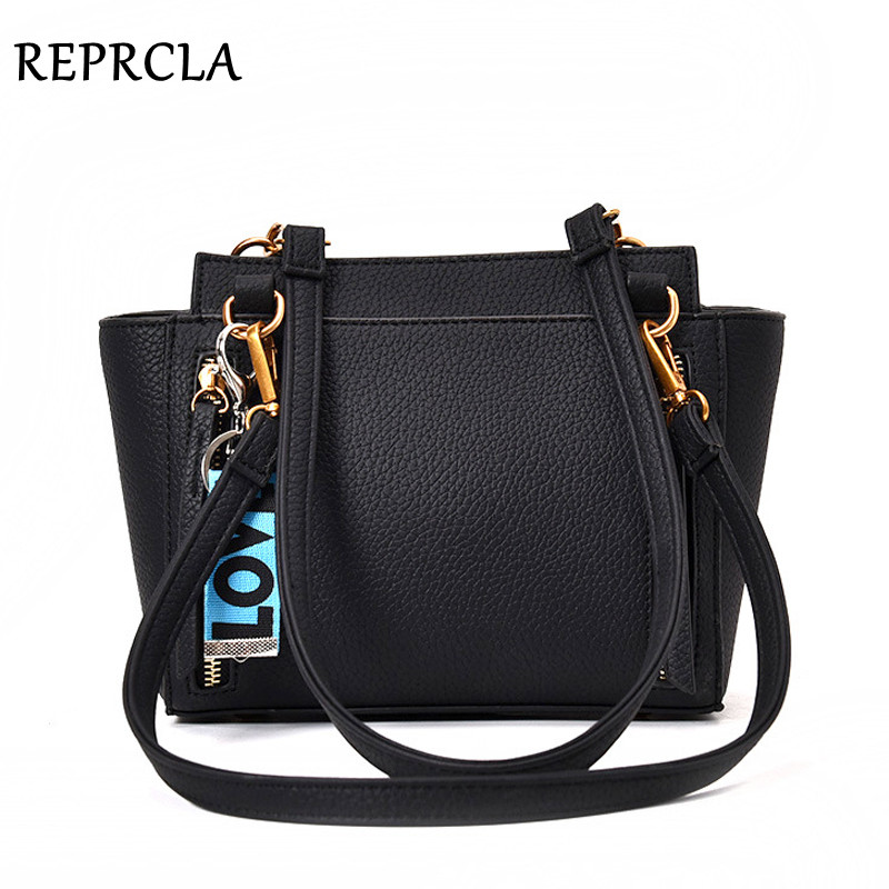 REPRCLA Fashion Litchi Pattern Shoulder Bag PU Leather Women Messenger Bags Handbags Designer Ladies Crossbody Women Bag free shipping new fashion brand women s single shoulder bag lady messenger bag litchi pattern solid color 100