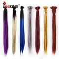 Leeons дреды наращивание волос для женщин и мужчин, ручная работа, дреды, Омбре, плетеные волосы, 1 нить, синтетические косы