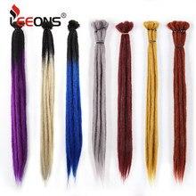 Leeons – extensions de cheveux synthétiques faites à la main, Dreadlocks pour femmes et hommes, tressage ombré, 1 brin, tresses au Crochet