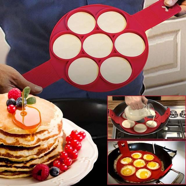 1 pc no stick egg mold silicone 7 holes egg pancakes ring make 7 1 pc no stick egg mold silicone 7 holes egg pancakes ring make 7 eggs one ccuart Gallery