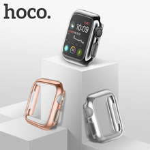 цена на HOCO Bumper for Apple Watch Series 5 PC Case Slim fit Case for IWatch 4 Colorful Plating Thin Protector Plastic Frame 40mm 44mm