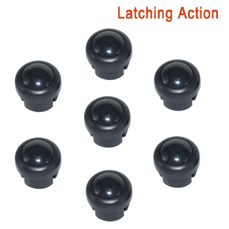 7 x кнопка включения мотоцикла сигнал поворота Высокий Низкий Луч Электрический старт Kill ON OFF кнопки мгновенного действия с фиксацией - Цвет: Black A