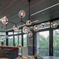 Loft Chandeliers for Living room Bedroom Kitchen tree branch chandelier Glass Bubble vintage retro chandelier lighting fixtures