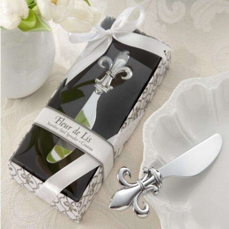 New Arrivalwedding Party Favors Fleur De Lis Chrome Spreader Bridal