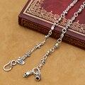 Реальный Чистый Серебряный Крест Ожерелье 925 Женщины Ожерелье Дизайнер Старинные Серебряный Крест Череп Neckace