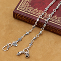 Real Pure Silver Cross Necklace 925 Silver Women Necklace Designer Vintage Silver Cross Skull  Neckace