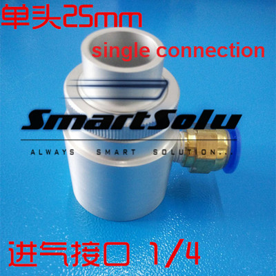 Free shipping Aluminum Alloy single connection 25mm pneumatic feeder Air Hopper yamaha pneumatic cl 16mm feeder kw1 m3200 10x feeder for smt chip mounter pick and place machine spare parts