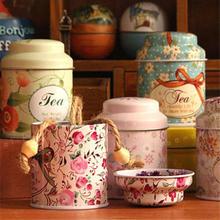 Colorful mini tin box sealed jar packing boxes jewelry, candy box small storage