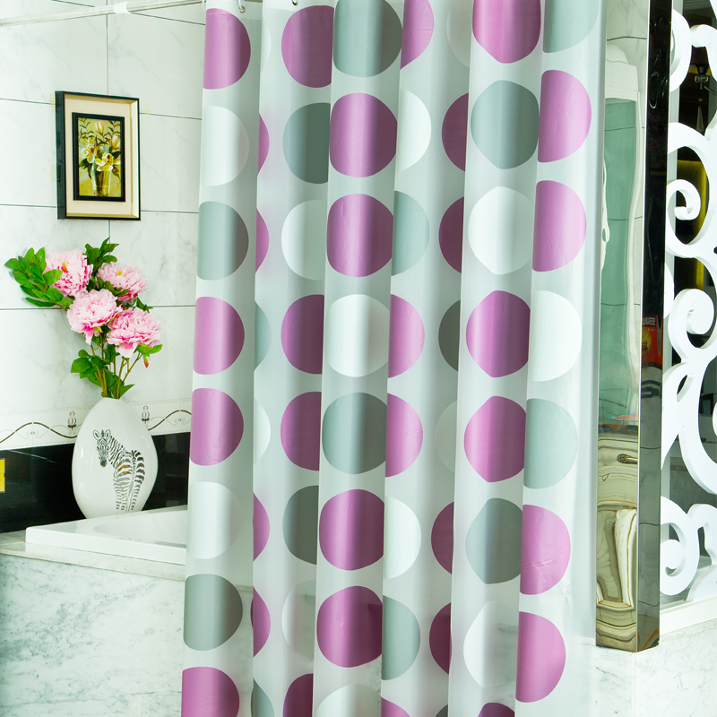 2016 New Top Grade Modern PVEA Purple Circle Shower Curtains ...