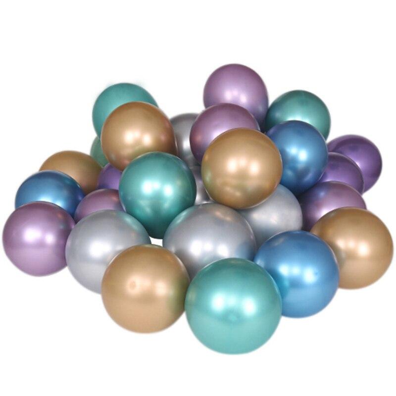 Glossy Metal Pearl Latex Balloons 10pcs 12inch Metal Pearl