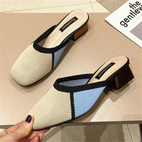 2019 Spring Pumps Women Shoes Heels Elegant New Mules Shoes Women Heel