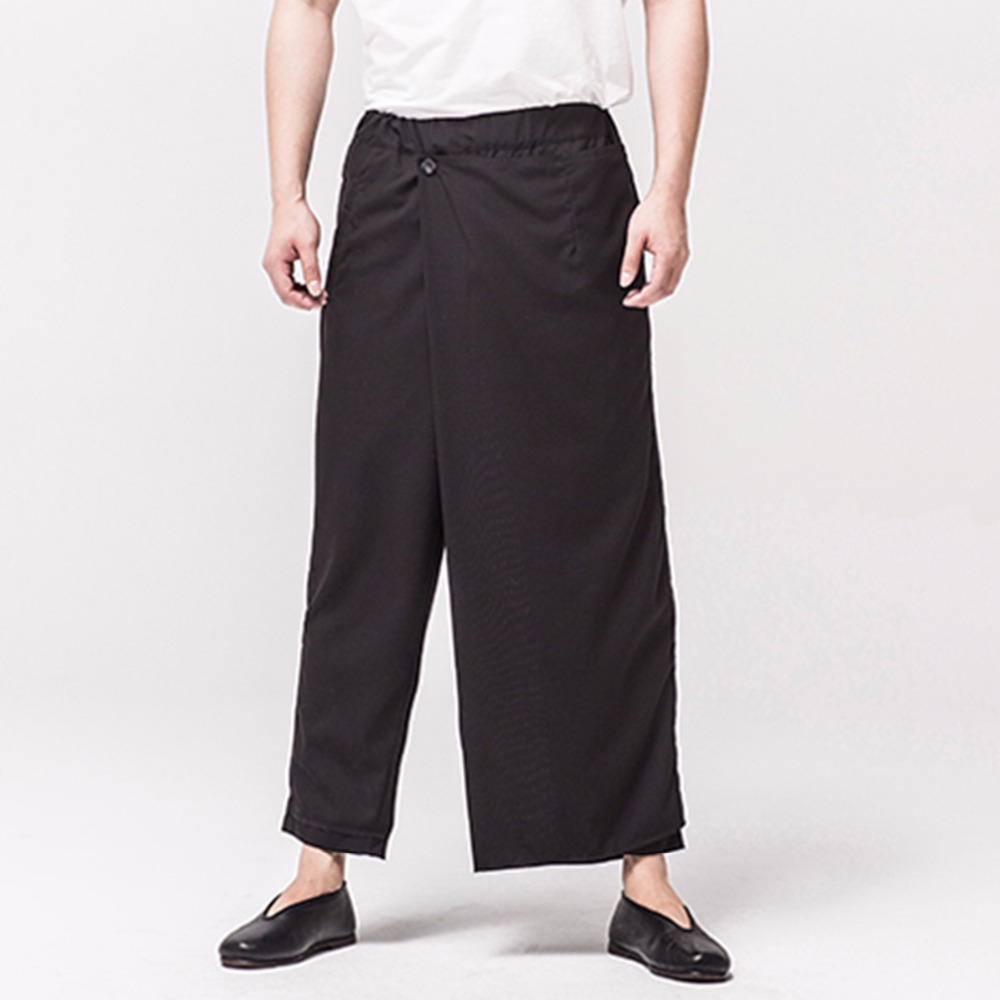 Casual Pants GD Men's Plus-Size Fashion New Retro Costumes Broad Personality Pure-Color