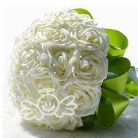 แฟชั่นใหม่ช่อเจ้าสาวสีชมพู/สีแดง/ขาว/สีม่วงดอกกุหลาบประดิษฐ์Foamflower