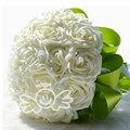 Nueva Moda Nupcial Ramos de Flores Color de Rosa/Rojo/Blanco/Púrpura Artificial Rose Foamflower de dama de Honor de La Boda Ramo de Novia con Perlas