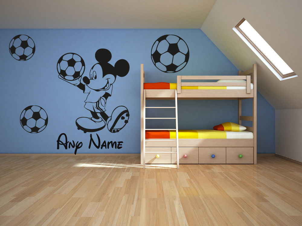 Aliexpress.com : Buy HWHD MICKEY MOUSE FOOTBALL NAME CHILDRENS KIDS Vinyl  Wall Art Stickers Decals Free Shipping From Reliable Sticker Decal  Suppliers On ... Part 57