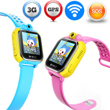 2016 Kid's GPS Smart Watch JM08 Wristwatch SOS GSM/WCDMA Call Wifi Location Tracker for iOS Kid Safe Monitor Baby Gift Children