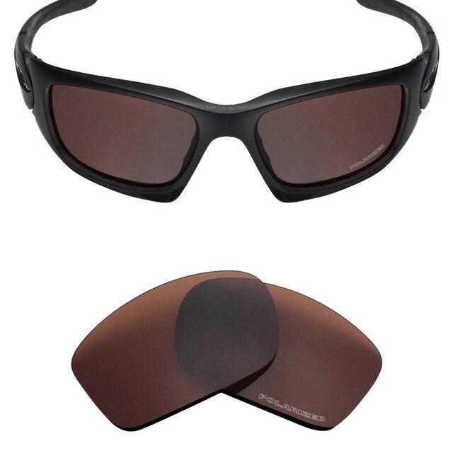 f80e156b670 Mryok+ POLARIZED Resist SeaWater Replacement Lenses for Oakley Scalpel  Sunglasses Bronze Brown