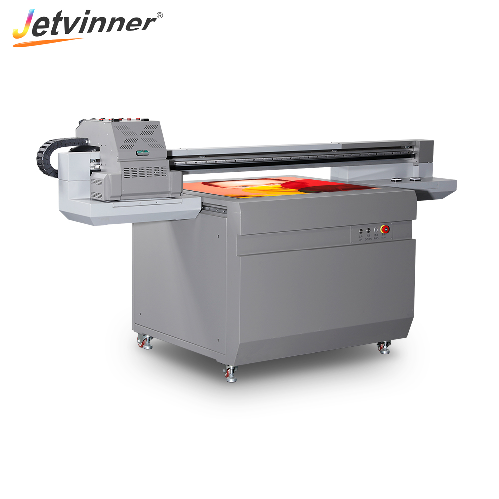 Jetvinner 18 color Two way Printing UV Printer 9060 Print Size for Phone Case, Acrylic, Metal, Wood, Cylinder, PVC, Glass