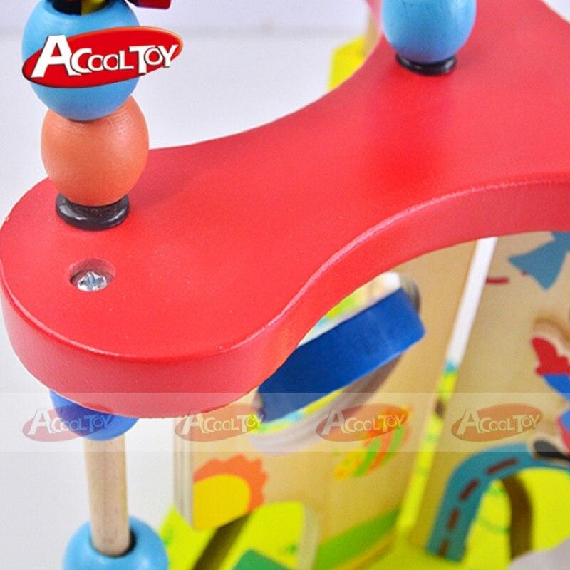 Enfants jouets bois Puzzles pour enfants multi-fonction en bois autour de perle labyrinthe forme Top qualité 3d Puzzle Juguete Madera pour bébé - 6