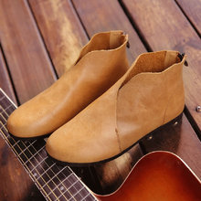 Femmes Chaussures Cheville Bottes Véritable Slip En Cuir sur D'été Bottes Gris/Brun/Noir Bottes Femme Printemps Chaussures (722-2)
