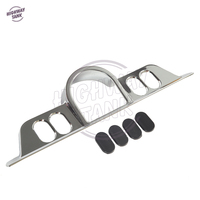 Chrome Motorcycle Switch Dash Panel Accent Cover Case For Harley Touring Tri Glide FLHT 1996 2013