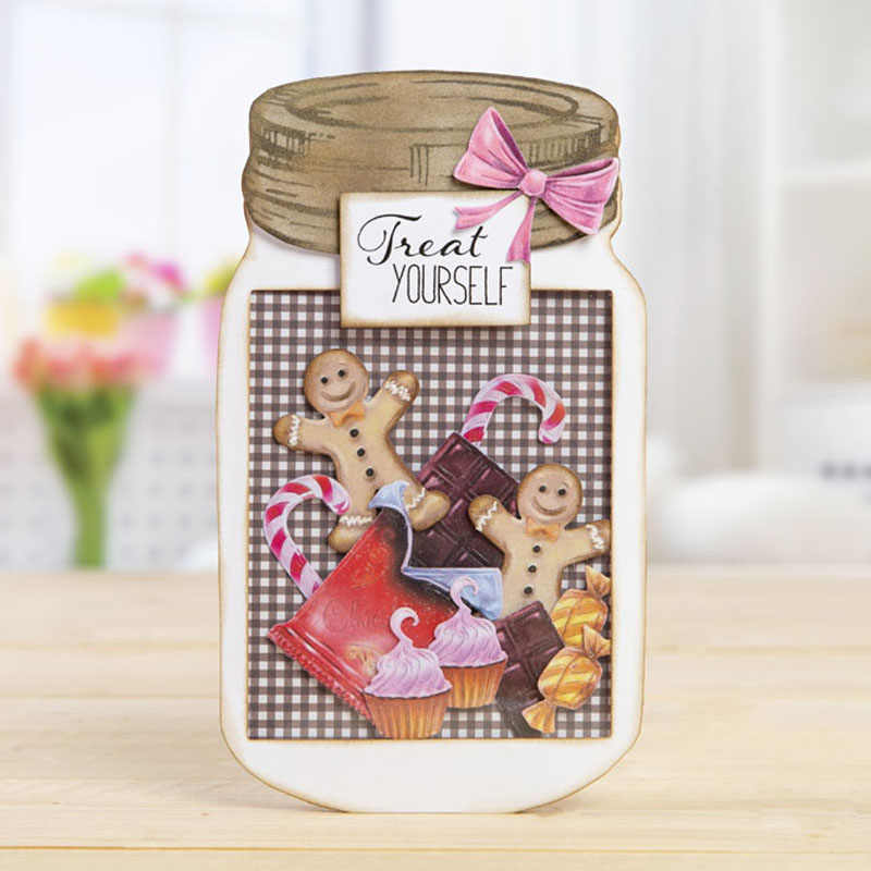 Gingersnap Lolly Metal Cutting Dies Stensil untuk Diy Scrapbooking Foto Album Dekoratif Embossing Kerajinan Kertas Supplier Die Cut
