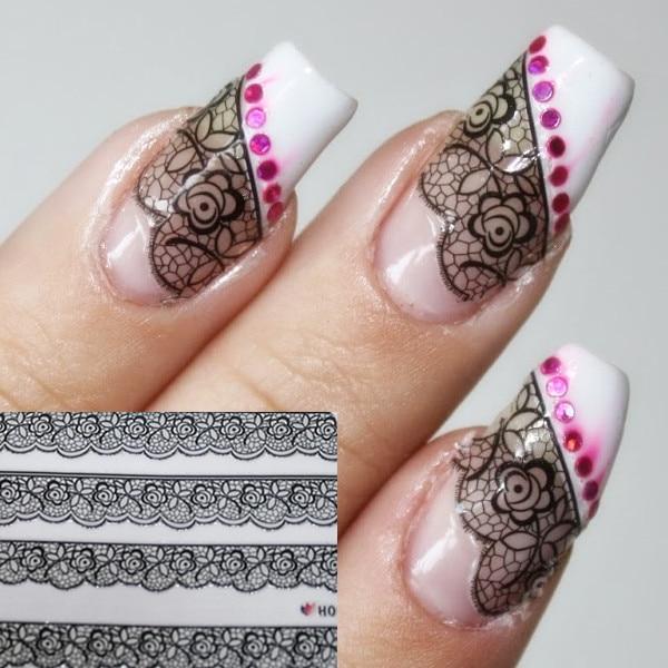 1sheet 3d nail art sticker sexy black lace floral patterned h007 1sheet 3d nail art sticker sexy black lace floral patterned h007 prinsesfo Choice Image