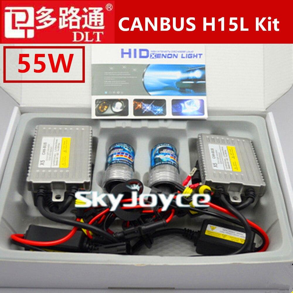 Шина can 55ВТ Н15 Н15-2 canbus спрятало набор 4300K Галогеновые лампы автомобиля света SourceCar дневные ходовые огни дальнего света Н15-2 H15L 5000К