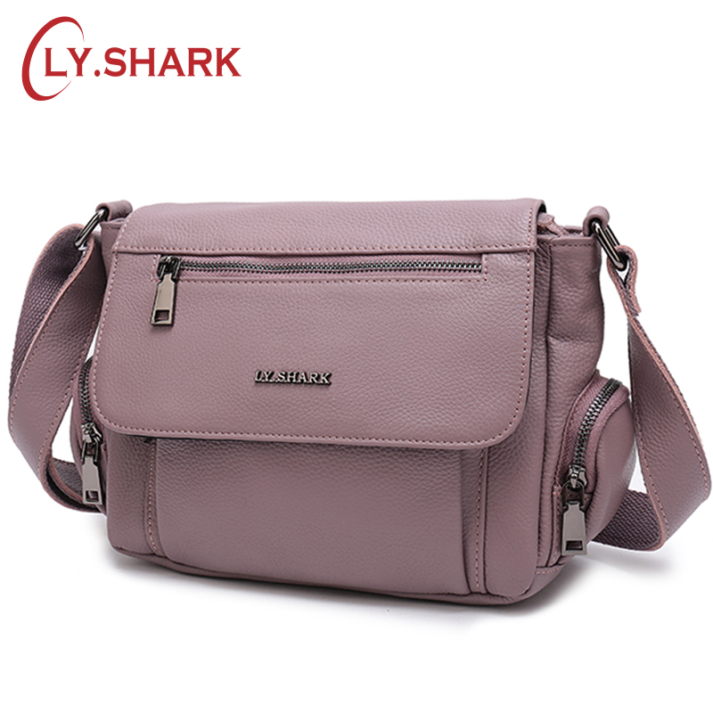 LY.SHARK bags for women 2018 Green Genuine Leather Bag Women's Handbag Female Crossbody Shoulder Bag Ladies Tote Small Messenger 2018 hot sale men shoes suede leather big size high quality fashion men s casual shoes european style mens shoes flats oxfords