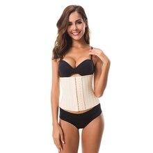 Women Post Natal Postpartum Slimming Corset Underwear Shaper Recover Bodysuits Shapewear Waist Girdle Black/Apricot Firm