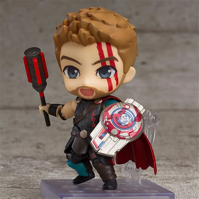 Nendoroid Thor 3 Ragnarok Avengers Super hero Thor 863 PVC Action Figures Collectible Model Kids Toys Doll 10cm 1