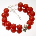 Natural Stones Classic Vintage Handcrafted Rubies  Beads Bracelet for Women (length 22cm)