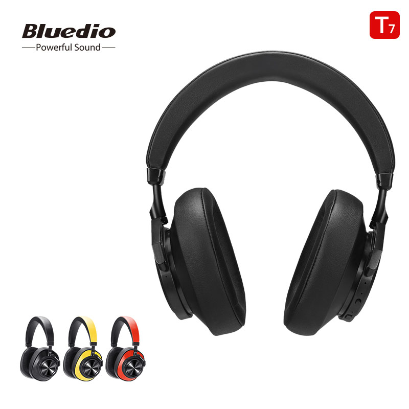 Bluedio Bluetooth Headsets Active Noise Cancelling T7 Wireless Headphone for phones and music with face recognition