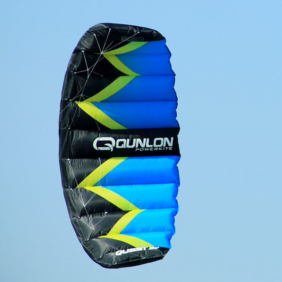 2 Sqm Blue Color Sport Stunt Kite Dual Line Parafoil Power Kite Kitesurfing Trainer With Package Bag